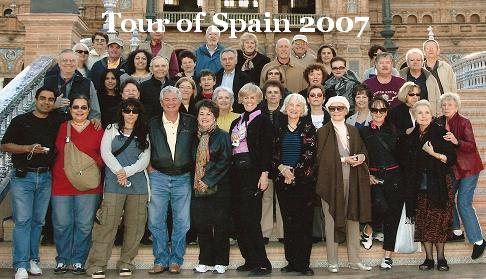 Globus tour group in Seville. Click here for more pictures.